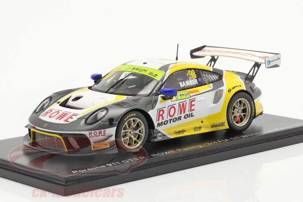 Porsche 911 GT3 R #98 3e FIA GT World Cup Macau 2019 Earl Bamber 1:43 Spark
