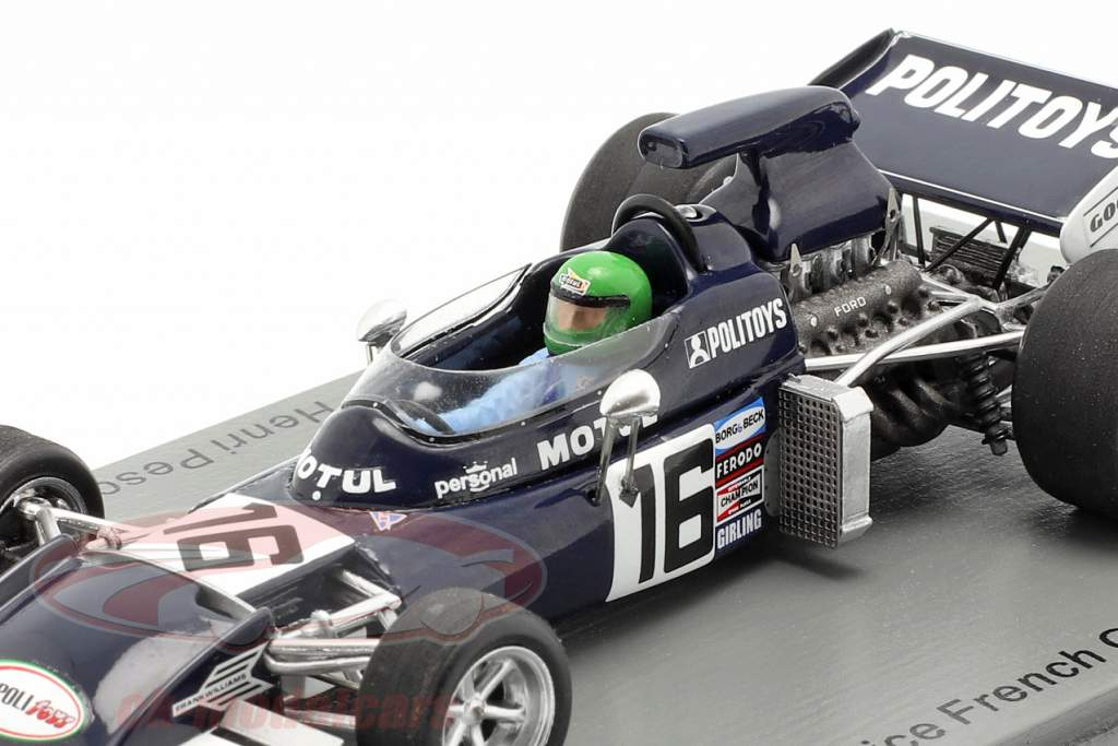 Henri Pescarolo March 721 #16 Práctica Francia GP fórmula 1 1972 1:43 Spark