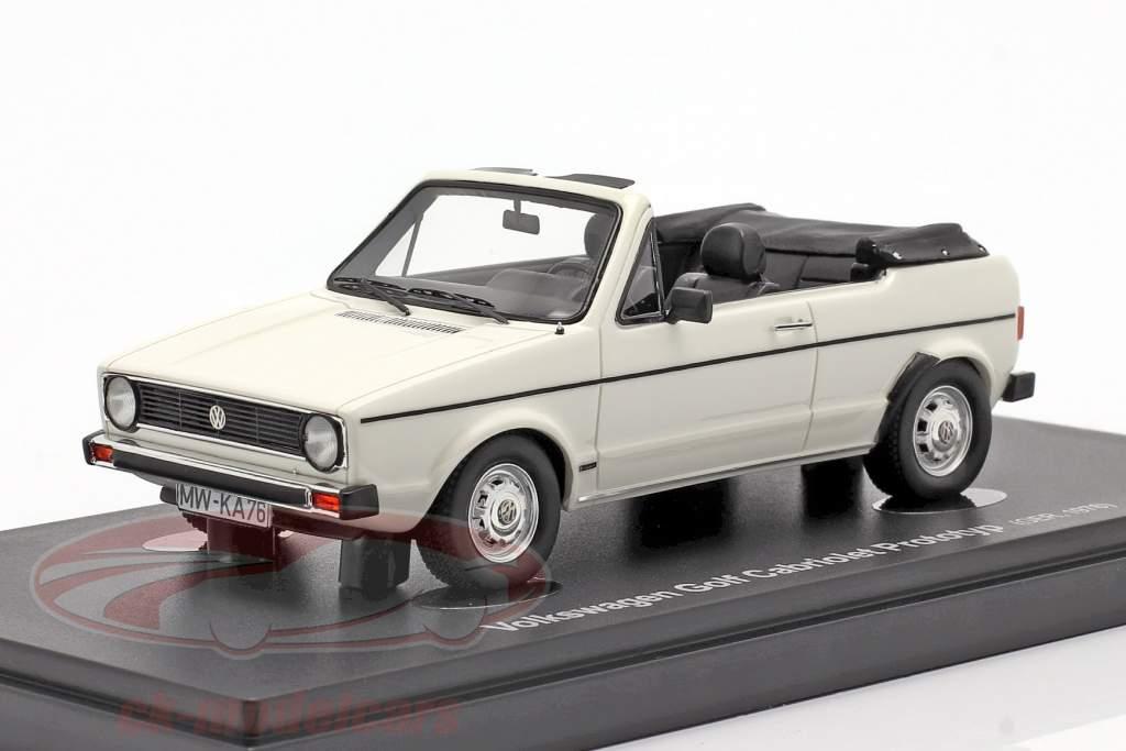 Volkswagen VW Golf 1 Cabriolet Prototyp 1976 weiß 1:43 AutoCult