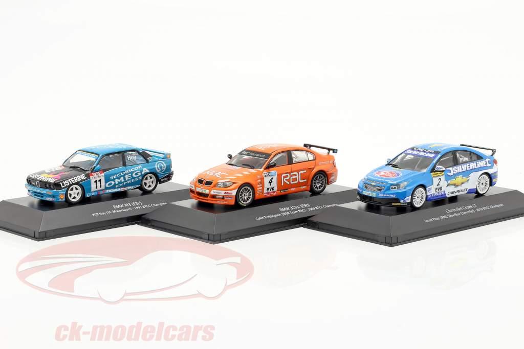 3-Car Set BTCC campeón 1991 & 2009 & 2010 1:43 Atlas