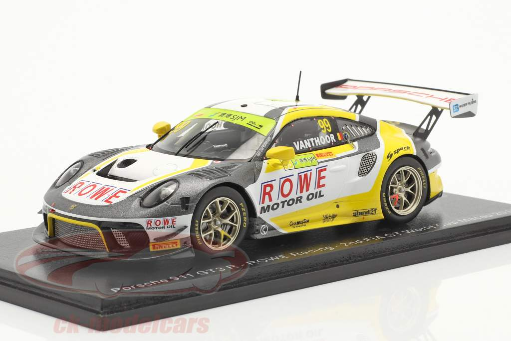 Porsche 911 GT3 R #99 2nd FIA GT World Cup Macau 2019 L. Vanthoor 1:43 Spark