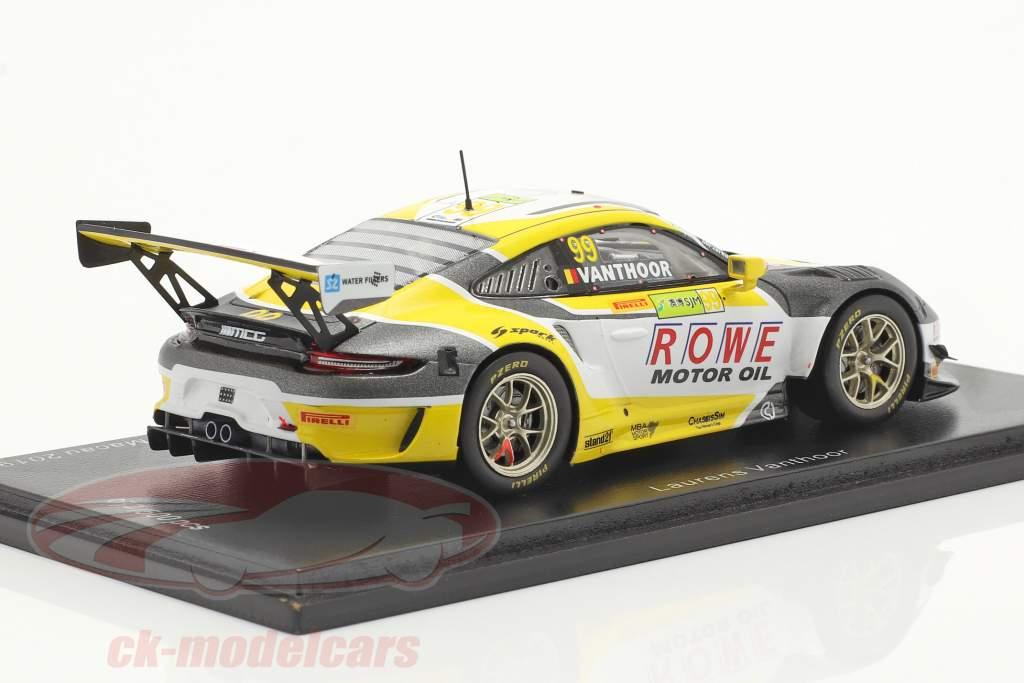 Porsche 911 GT3 R #99 2. plads FIA GT World Cup Macau 2019 L. Vanthoor 1:43 Spark