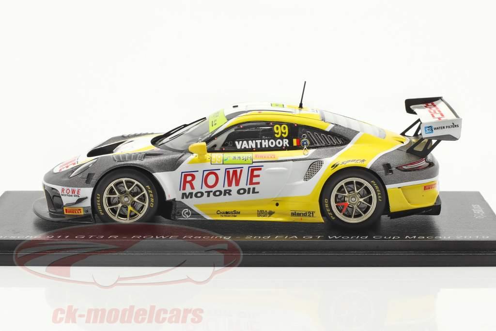 Porsche 911 GT3 R #99 2do FIA GT World Cup Macau 2019 L. Vanthoor 1:43 Spark