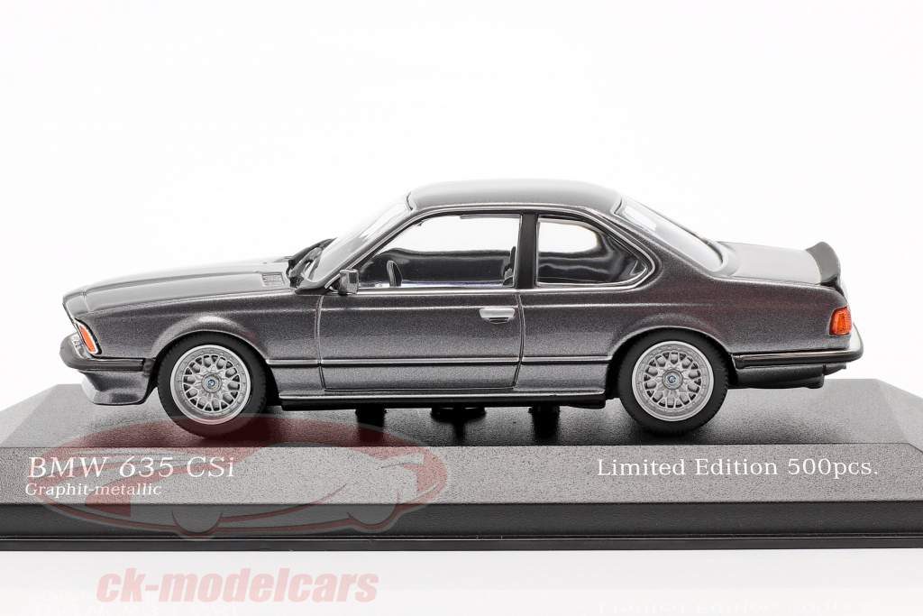 BMW 635 CSI (E24) Baujahr 1982 graphit grau metallic 1:43 Minichamps