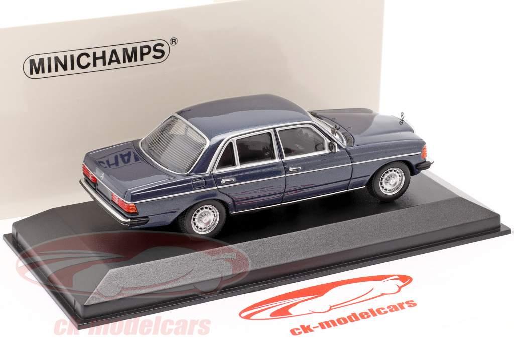 Mercedes-Benz 230E (W123) year 1982 blue metallic 1:43 Minichamps