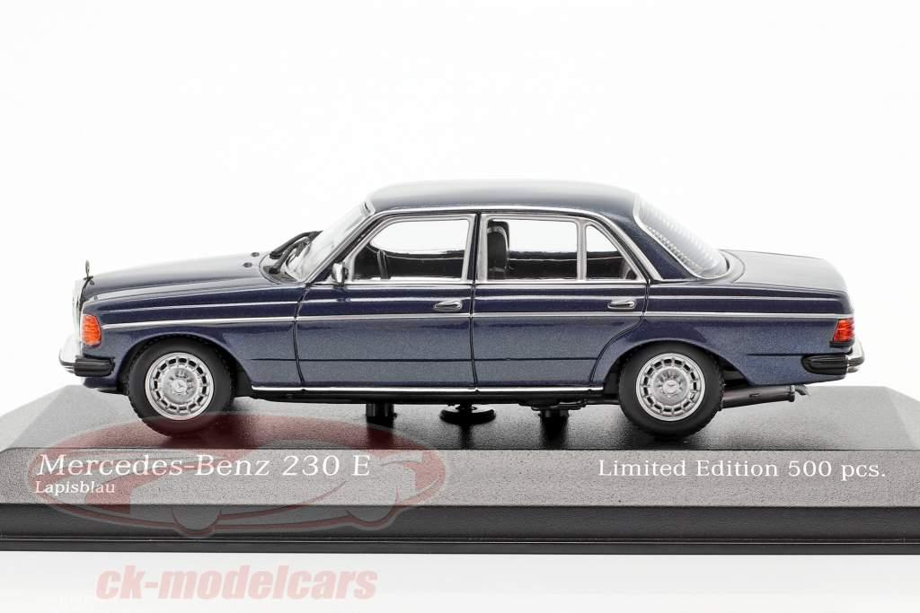 Mercedes-Benz 230E (W123) Année de construction 1982 bleu métallique 1:43 Minichamps