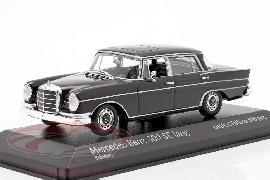 Mercedes-Benz 300 SE long (W112) Heckflosse year 1963 black 1:43 Minichamps