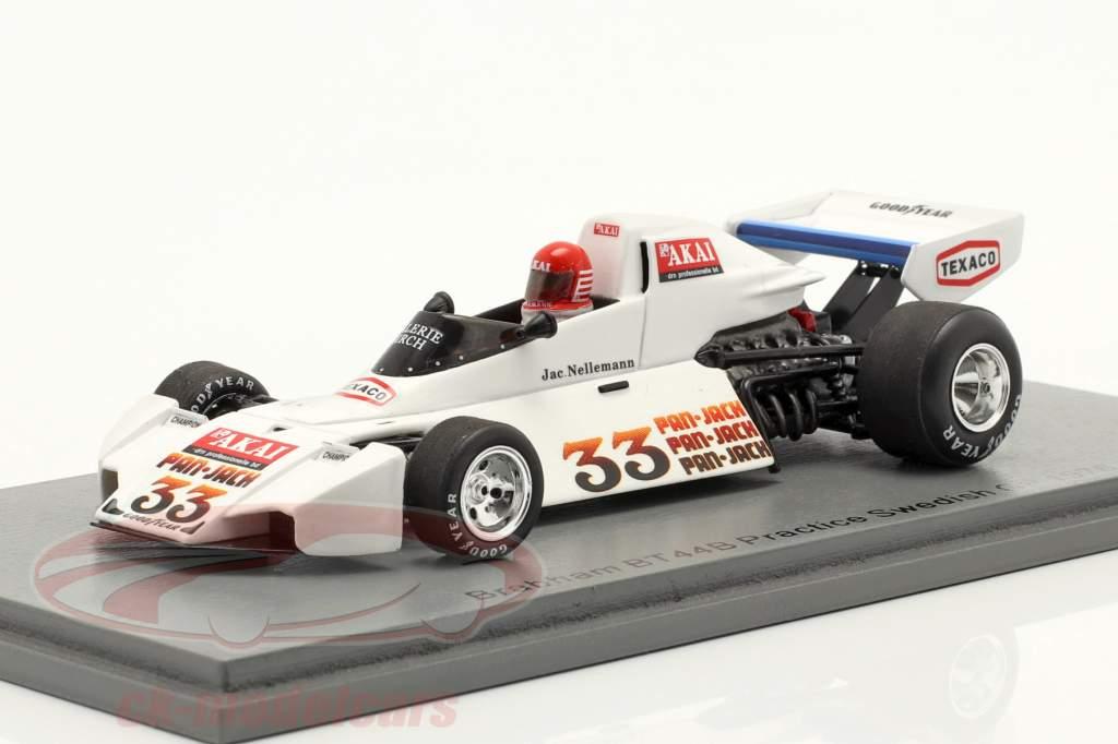 Jac Nelleman Brabham BT44B #33 Práctica Suecia GP fórmula 1 1976 1:43 Spark