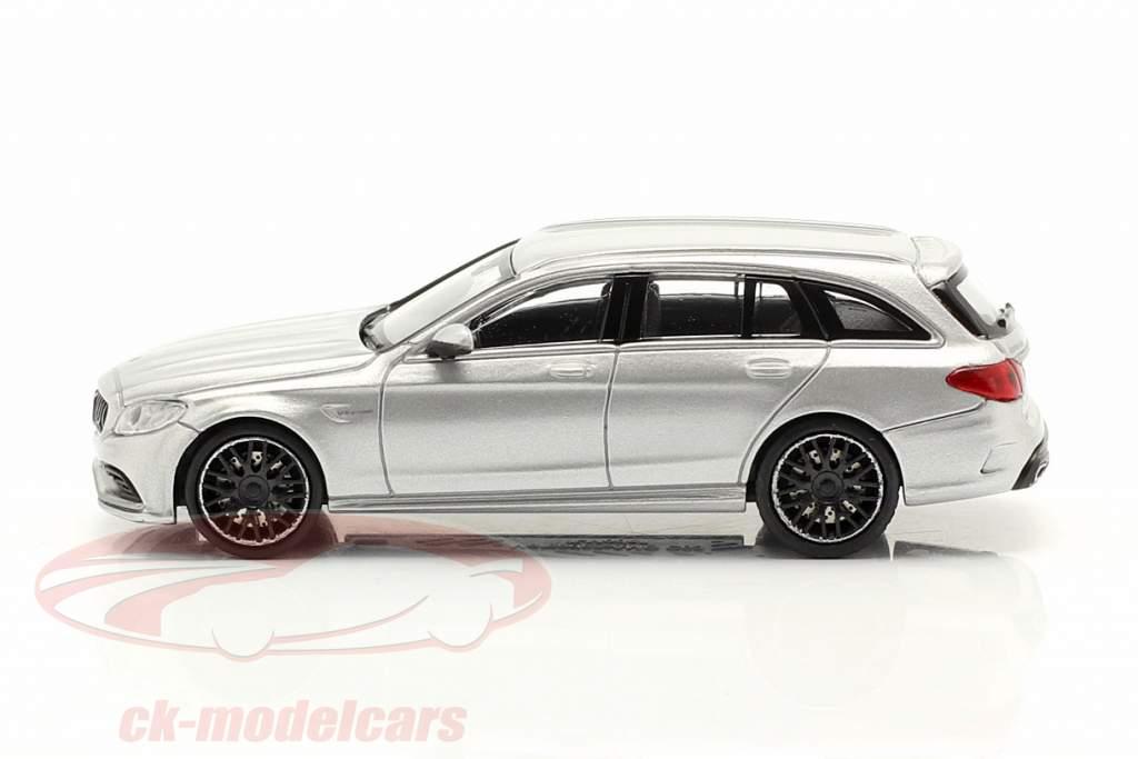 Mercedes-Benz AMG C63 año 2019 plata metálico 1:87 Minichamps