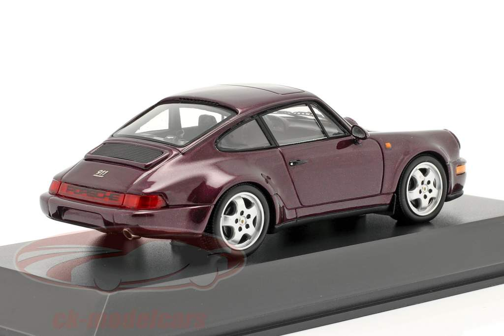 Porsche 911 Carrera 4 30 År 911 vinrød metallic 1:43 Spark