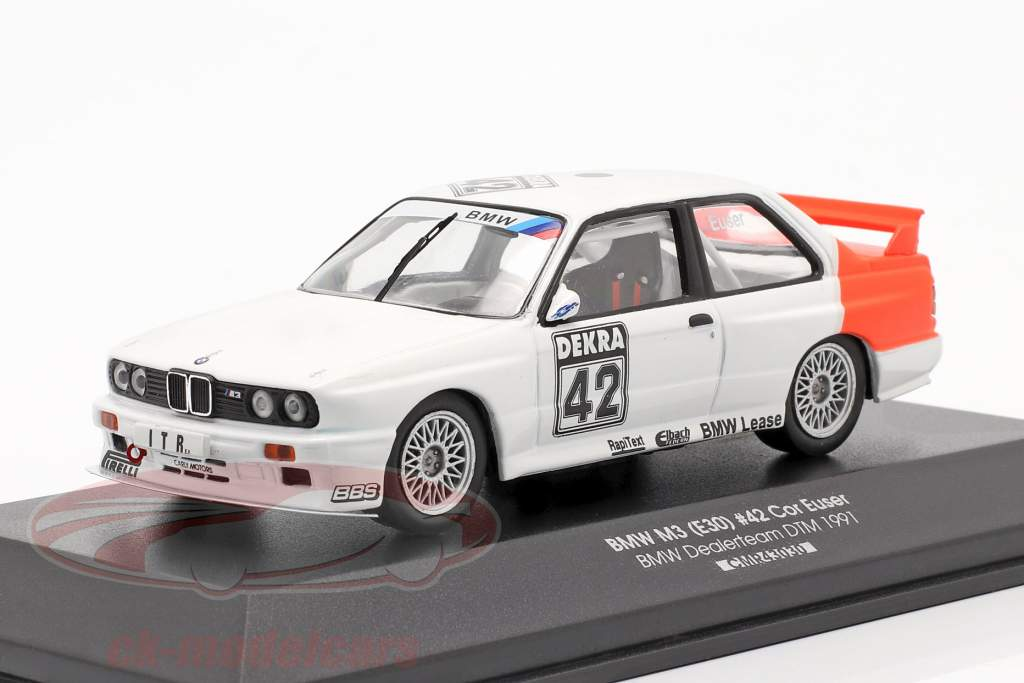 BMW M3 (E30) #42 DTM 1991 Cor Euser 1:43 CMR / 2. keuze