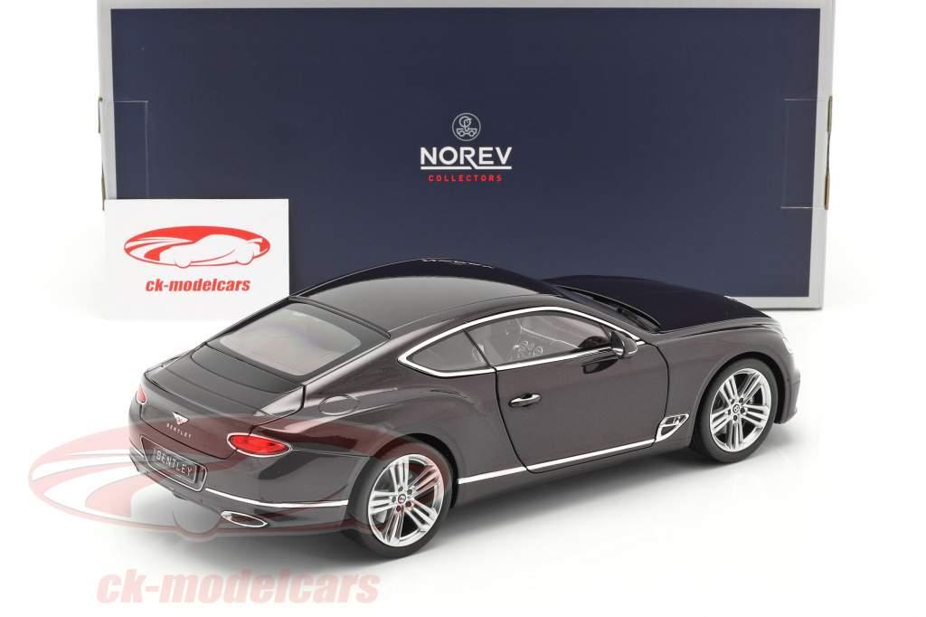Bentley Continental GT Byggeår 2018 damson metallisk 1:18 Norev