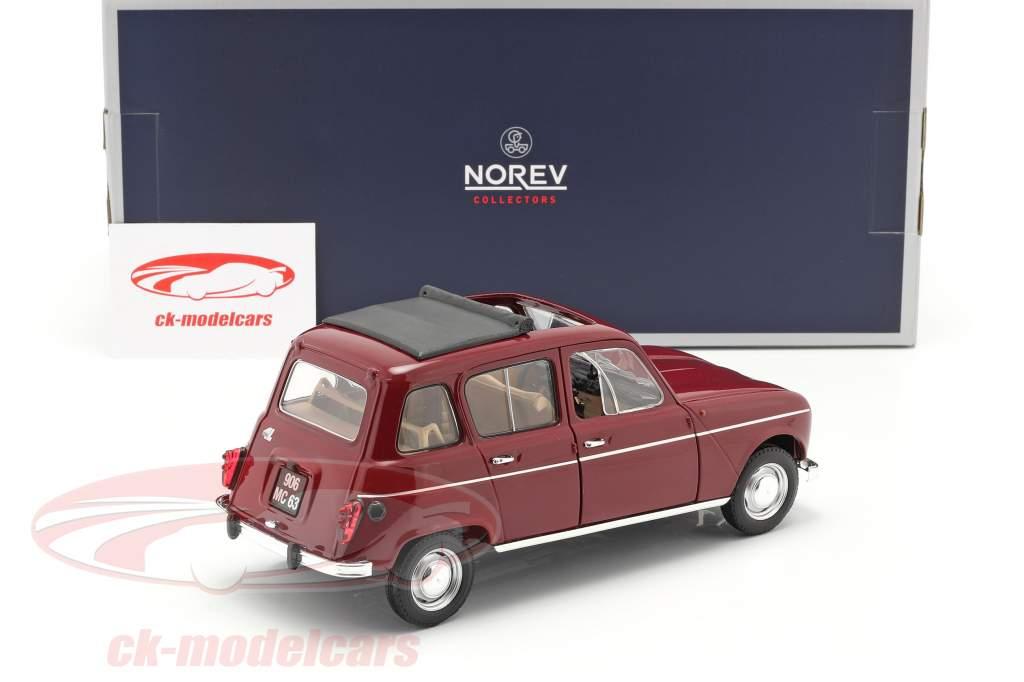 Renault 4L Baujahr 1966 dunkelrot 1:18 Norev
