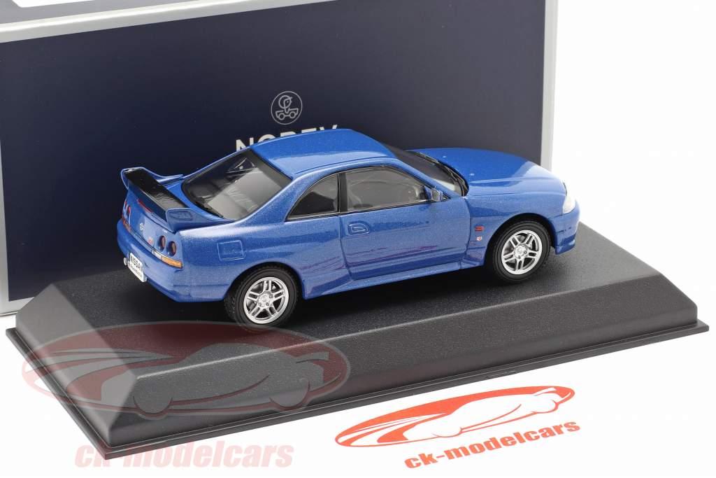 Nissan Skyline R33 GT-R Baujahr 1995 blau metallic 1:43 Norev