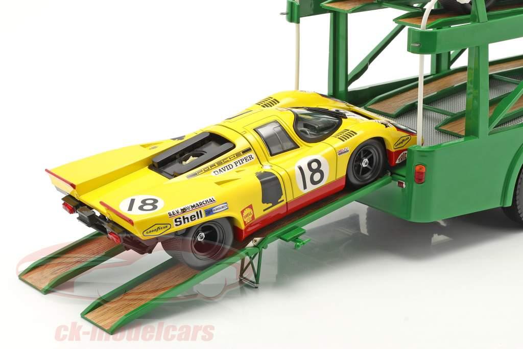 Fiat Bartoletti 306/2 Race Car Transporter 1970 David Piper Racing 1:18 Norev
