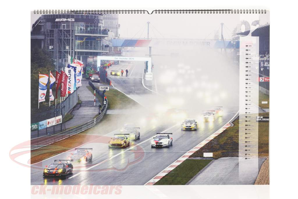 24h Nürburgring calendario 2021  67 x 42 cm / grupo C Automovilismo compañia de publicidad