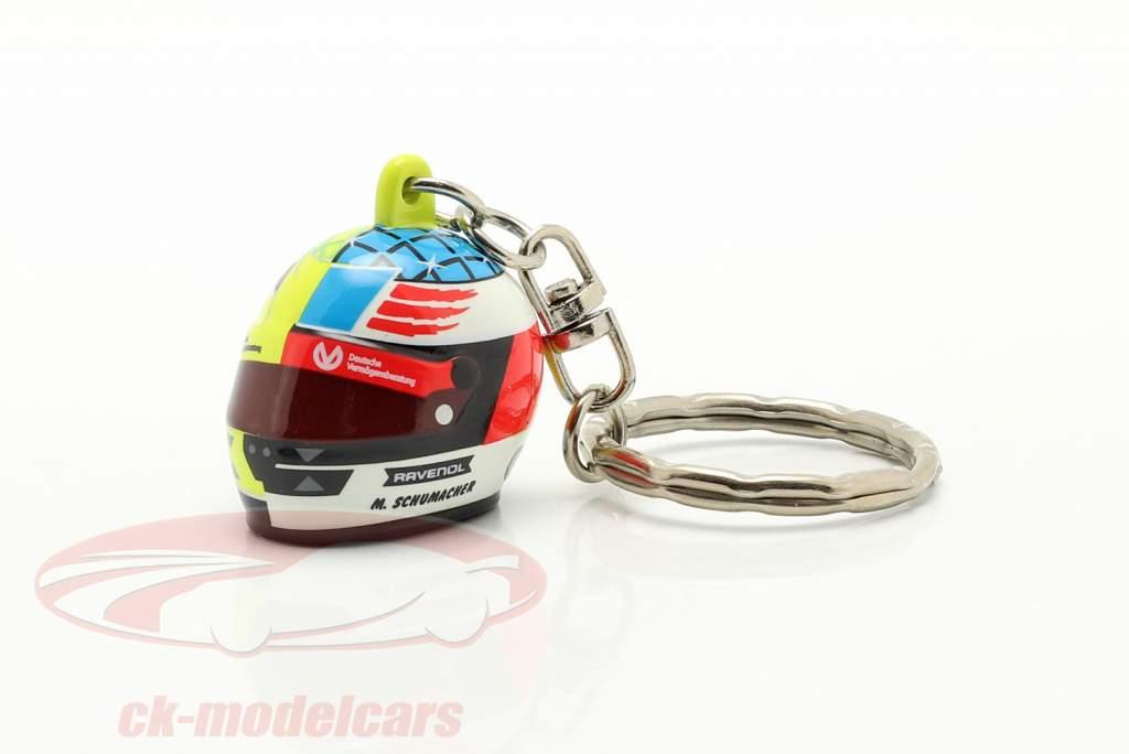 Mick Schumacher 3D Portachiavi casco 2017 Spa