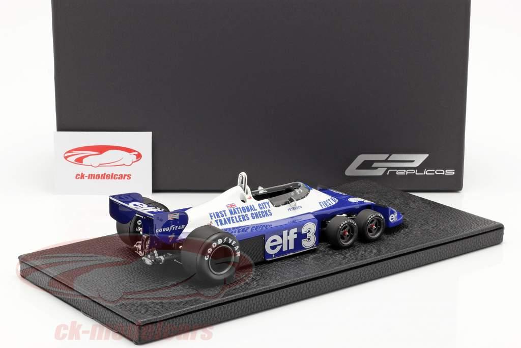 Ronnie Peterson Tyrrell P34 six roues #3 formule 1 1977 1:18 GP Replicas