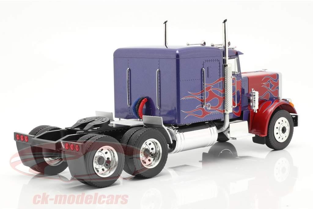 Peterbilt 359 Bull Nose Camion 1967 blu / rosso 1:18 Road Kings