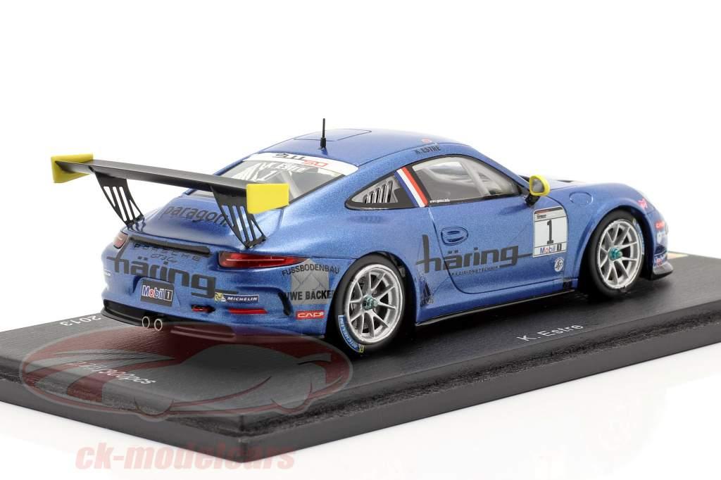 K. Estre Porsche 911 (991) GT3 Cup #1 Kampioen Duitsland PCC 2013 1:43 Spark