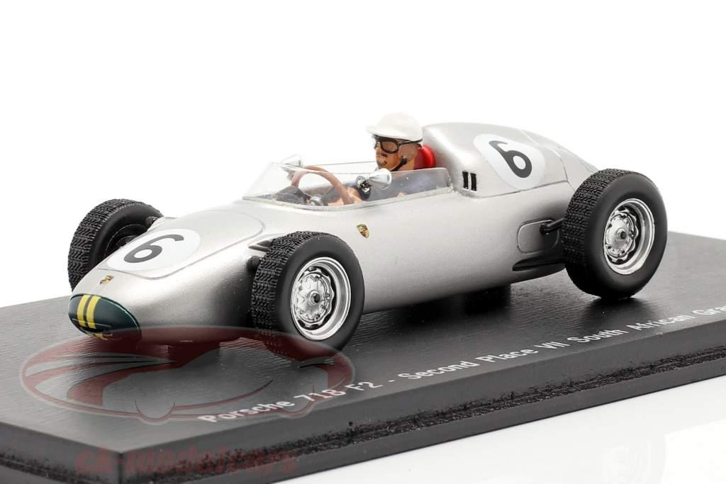 Joakim Bonnier Porsche 718 F2 #6 2. Espaço GP África do Sul 1960 1:43 Spark