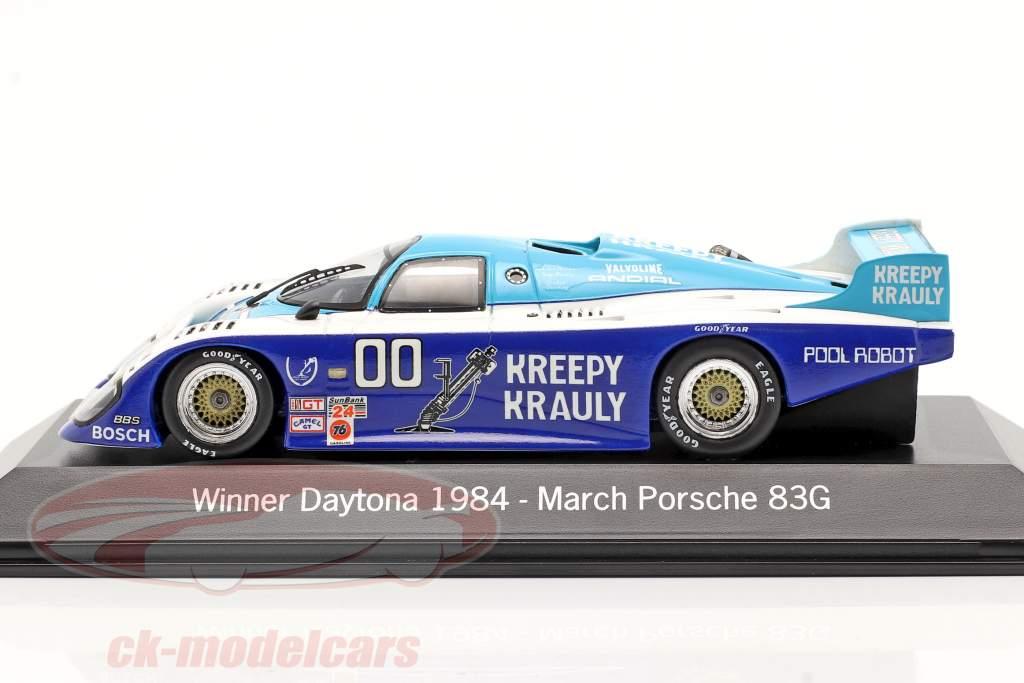 March Porsche 83G #00 Gagnant 24h Daytona 1984 Kreepy Krauly Racing 1:43 Spark