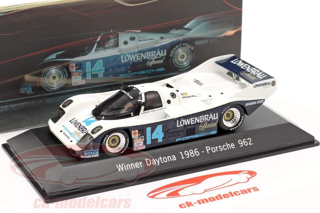 Porsche 962 #14 Winner 24 di Daytona 1986 Löwenbräu Holbert corsa 1:43 Spark
