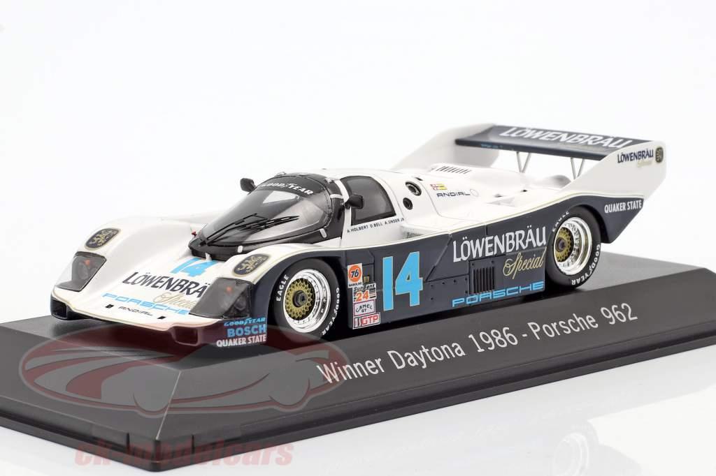 Porsche 962 #14 Gagnant 24h Daytona 1986 Löwenbräu Holbert Racing 1:43 Spark