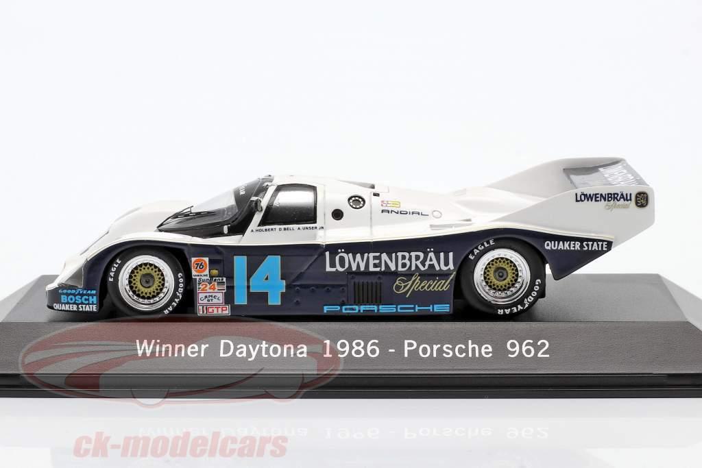Porsche 962 nº 14 Vencedor 24 Daytona 1986 Löwenbräu Holbert Corrida 1:43 faísca
