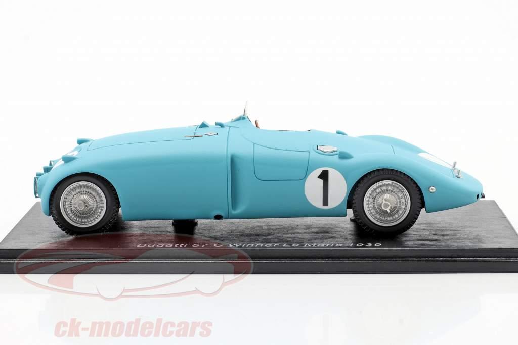Bugatti Type 57C #1 winnaar 24h LeMans 1939 Wimille / Veyron 1:43 Spark
