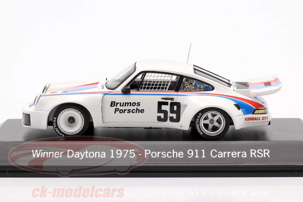 Porsche 911 Carrera RSR #59 Vencedor 24h Daytona 1975 Brumos Porsche 1:43 Spark