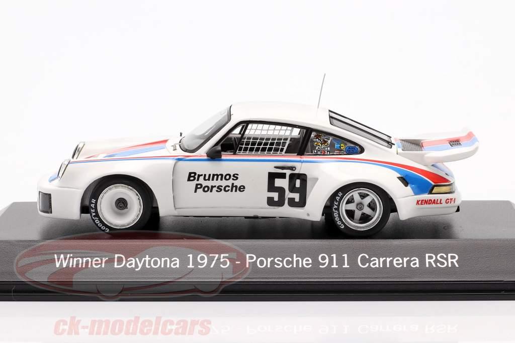 Porsche 911 Carrera RSR #59 Winnaar 24h Daytona 1975 Brumos Porsche 1:43 Spark