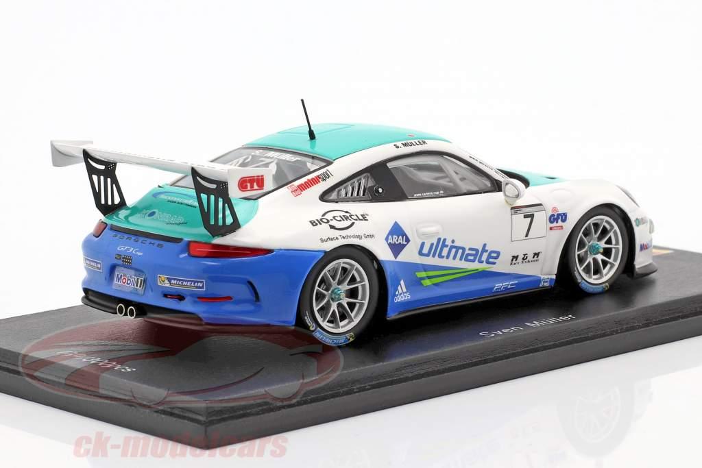 Porsche 911 (991) GT3 Cup #7 Winner PCC Deutschland 2016 Sven Müller 1:43 Spark