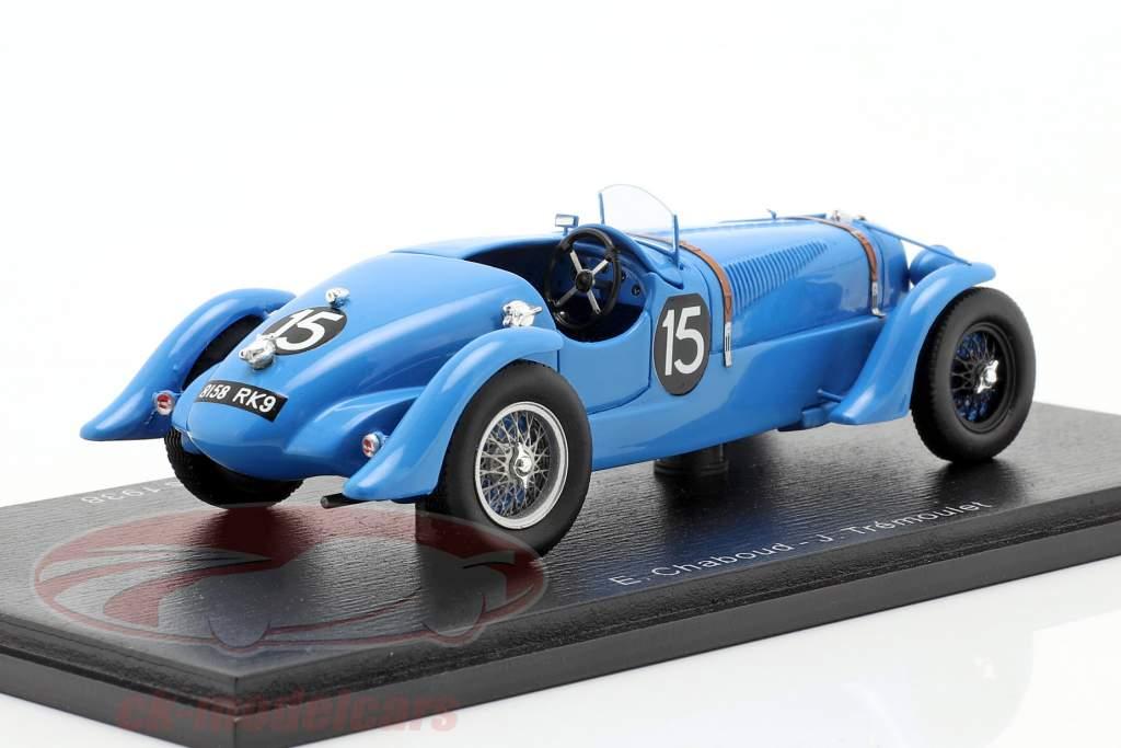 Delahaye 135 CS #15 vencedor 24h LeMans 1938 Chaboud, Tremoulet 1:43 Spark