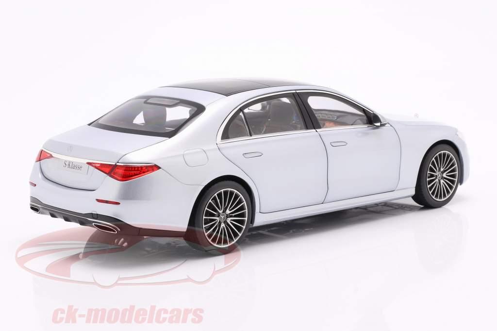 Mercedes-Benz S-class (V223) year 2020 high-tech silver 1:18 Norev