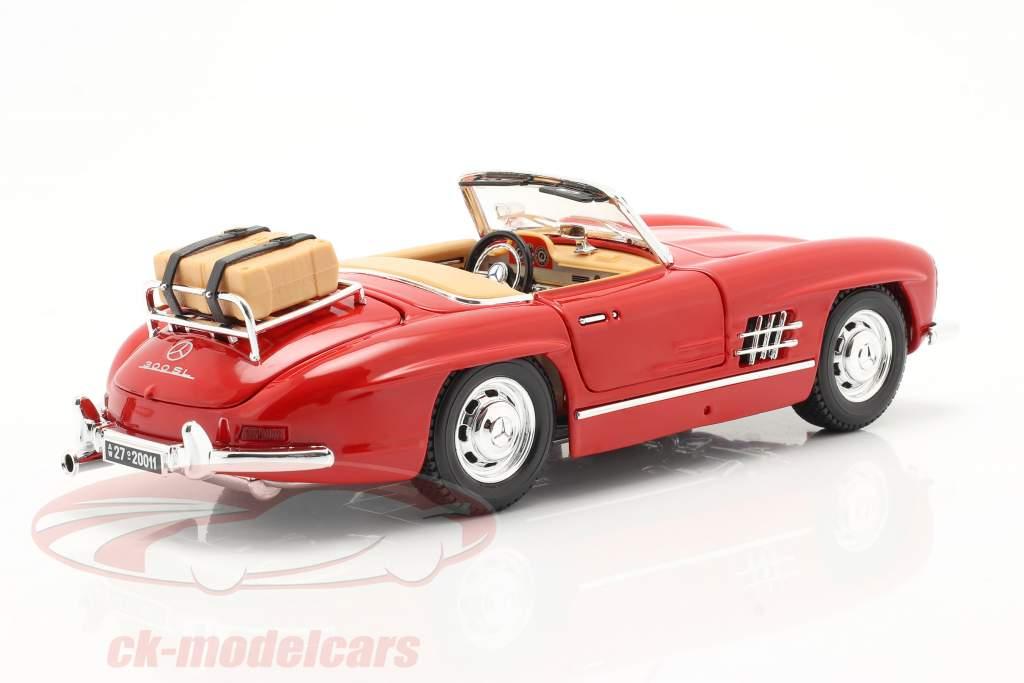 Mercedes-Benz 300 SL Touring Cabriolet anno di costruzione 1957 rosso 1:18 Bburago