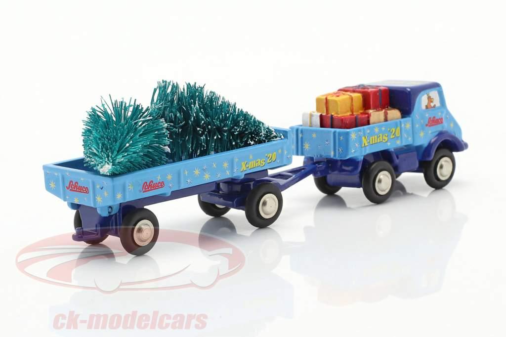Unimog 401 with cargo Christmas edition 2020 1:90 Schuco Piccolo