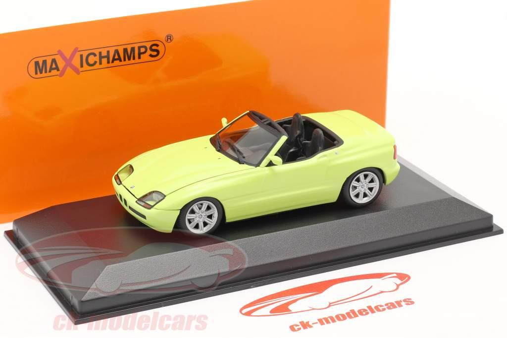 BMW Z1 (E30) Bouwjaar 1991 lichtgeel 1:43 Minichamps