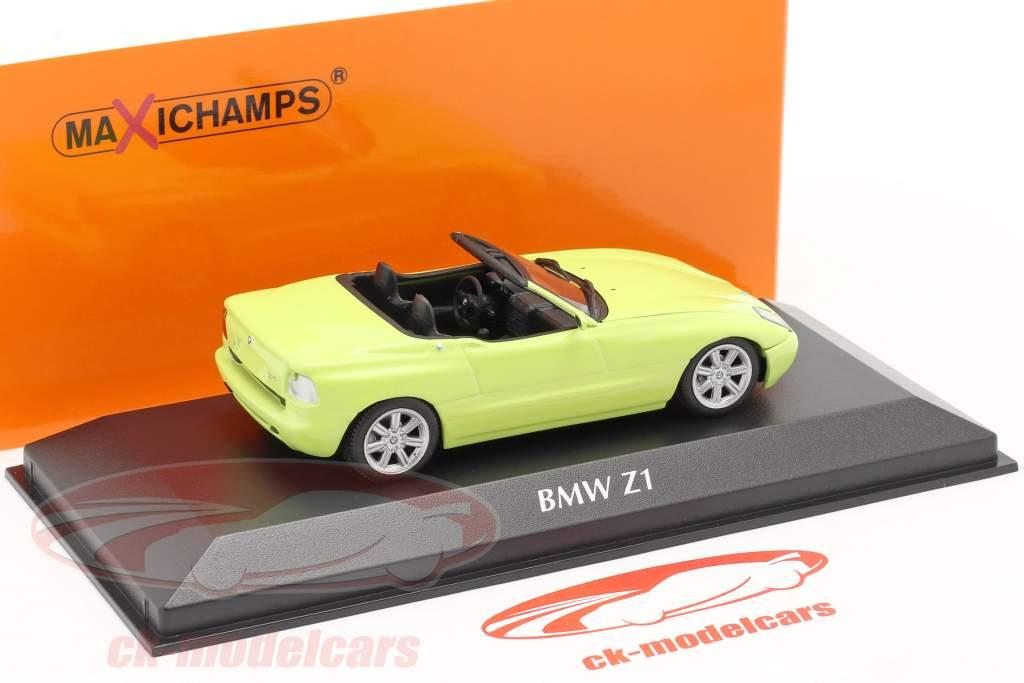 BMW Z1 (E30) ano de construção 1991 luz amarela 1:43 Minichamps