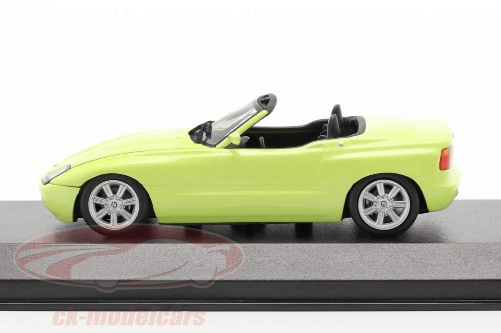 BMW Z1 (E30) Opførselsår 1991 lys gul 1:43 Minichamps