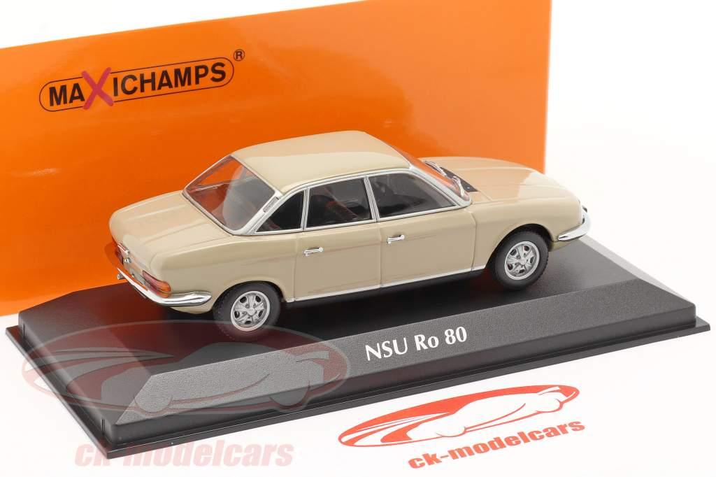 NSU Ro 80 Bouwjaar 1972 Sahara beige 1:43 Minichamps