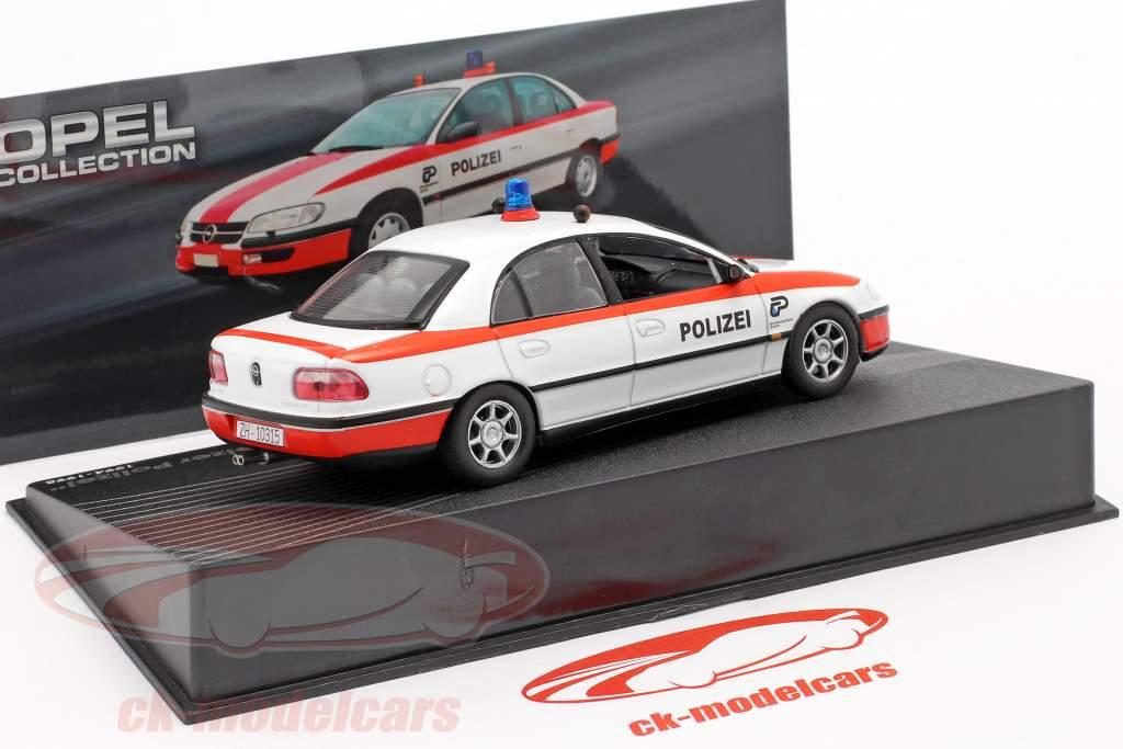 Opel Omega Schweizer Polizei Baujahr 1994-1998 weiß / rot 1:43 Altaya