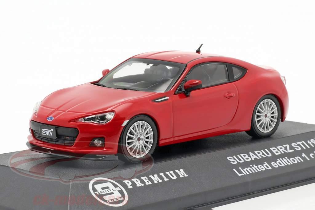 Subaru BRZ STI tS jaar 2013 rood 1:43 Triple 9