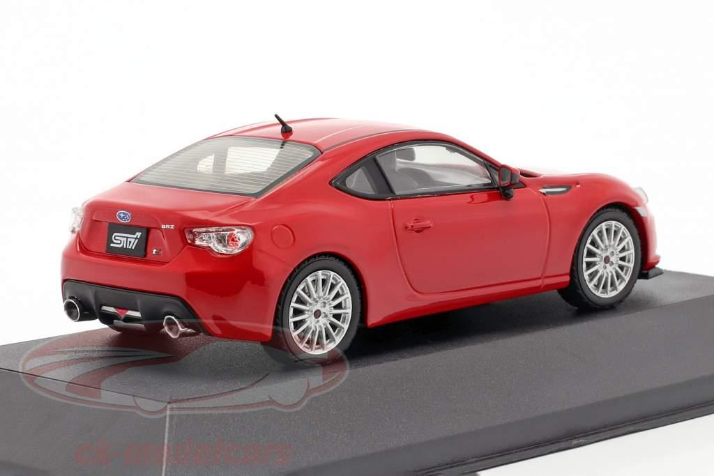 Subaru BRZ STI tS anno 2013 rosso 1:43 Triple 9