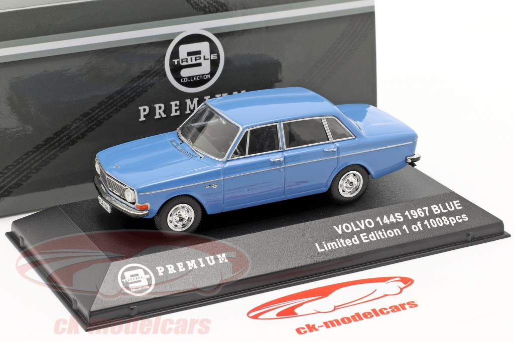 Volvo 144S année 1967 bleu 1:43 Triple9