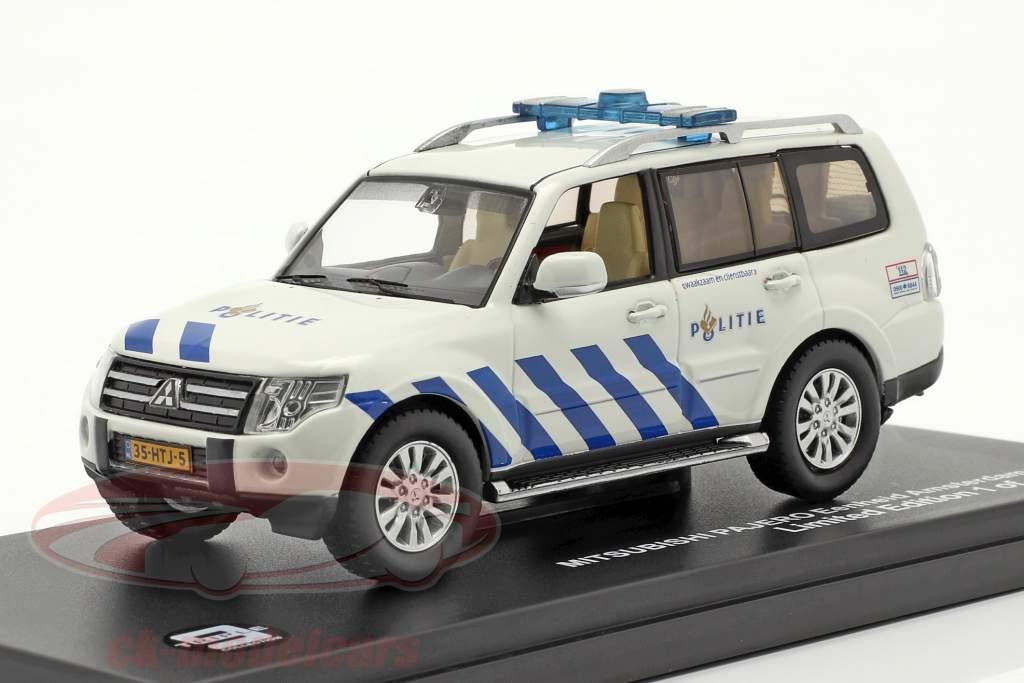 Mitsubishi Pajero Politie Ámsterdam 2013 blanco / azul 1:43 Triple 9