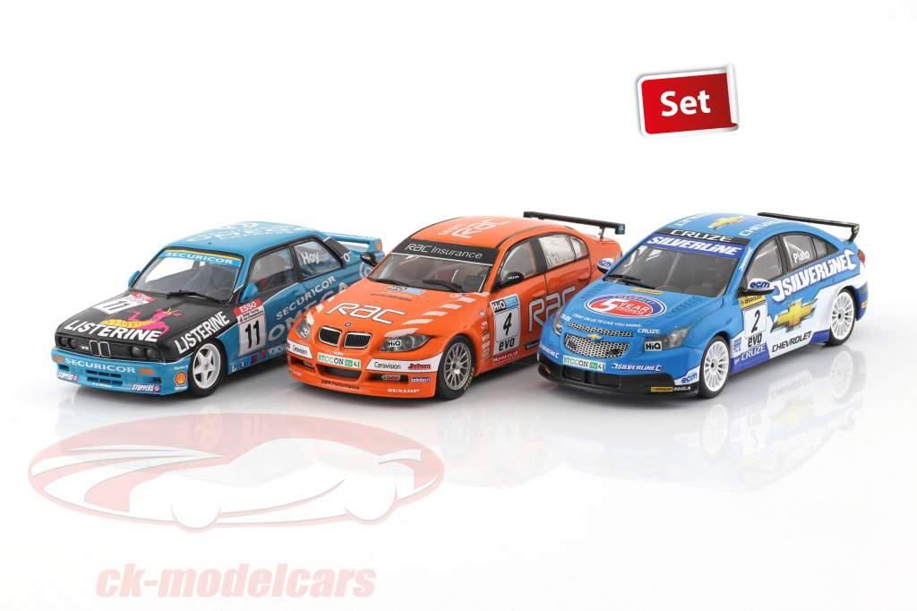 3-Car Set BTCC Champion 1991 & 2009 & 2010 1:43 Atlas