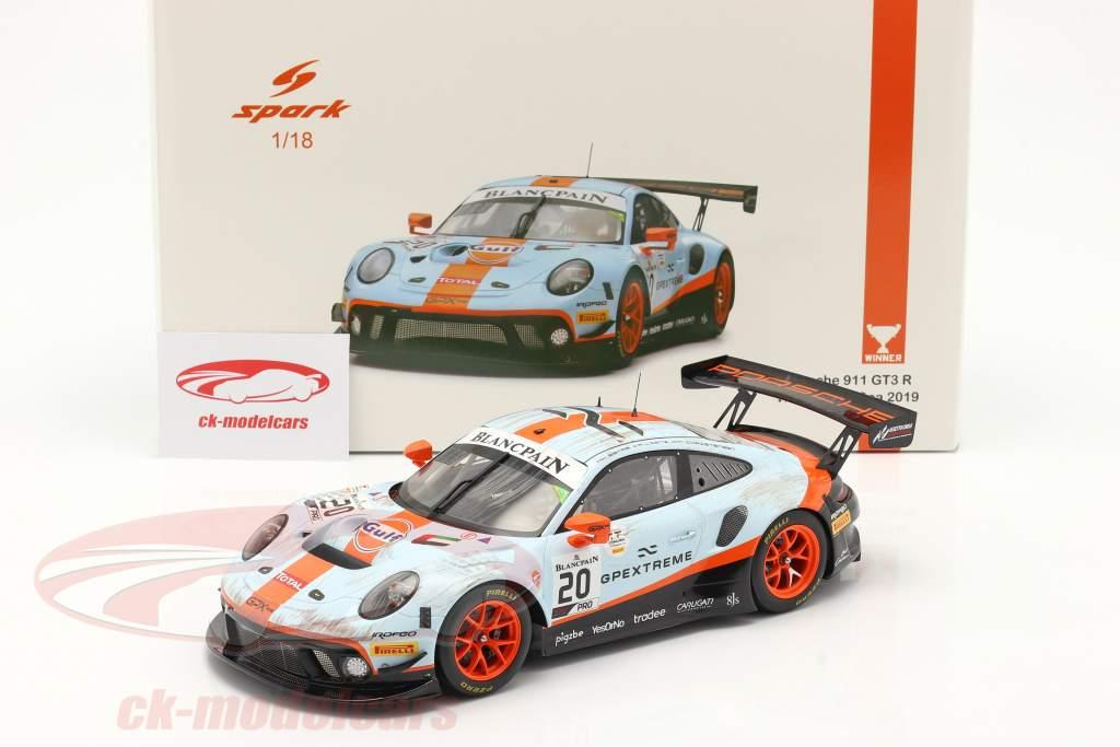 Porsche 911 GT3 R #20 ganador 24h Spa 2019 Dirty Race Version 1:18 Spark