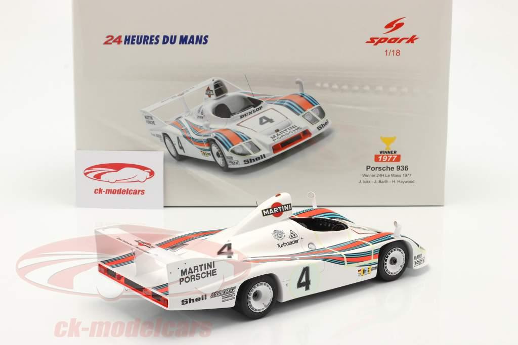 Porsche 936/77 #4 Sieger 24h LeMans 1977 Martini Racing 1:18 Spark