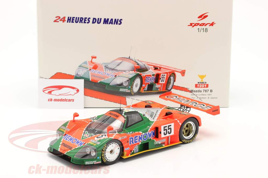 Mazda 787B #55 Sieger 24h LeMans 1991 Weidler, Herbert, Gachot 1:18 Spark